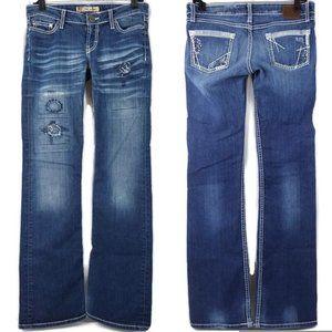 Buckle BKE Stella Jeans Boot Dark Wash Patches 27